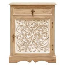 white washed mango wood. Vandara Small Cabinet White Washed Mango Wood O