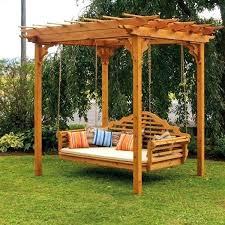 wooden garden swing seats uk under a small pergola near trees interior swings for s wooden garden swing