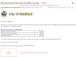 Phishing Sample Traffic Ticket Information Technology