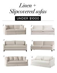linen slipcovered sofas under 2k roundup
