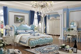 bedroom furniture china. Bedroom Furniture China Solid Wood Carved Bed Blue Color E