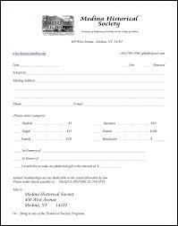 Application For Membership Membership Application Medina Historical Society