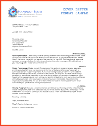 Cover Letter Format Examples Best Sample Cover Letter Examples For