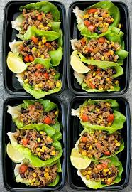 Weekly Lunch Prep Taco Lettuce Wraps Meal Prep