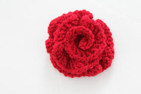 Knitted Flower Pattern Stunning Corsage Trio Knitting Pattern Knitting Corsage Flower Yarn And