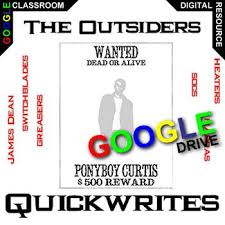 best teaching outsiders by s e hinton images the outsiders journal quickwrite writing prompts created for digital