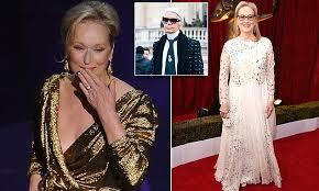 Karl Lagerfeld says Meryl Streep cancelled Oscars dress   Daily Mail ...