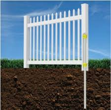 Image Fence Company Install Permanent Vinyl Fence Without Digging Holes Or Pouring Concrete Fence Outlet Amazoncom Wambam Nodig Bl19101 Nantucket Picket Vinyl Fence