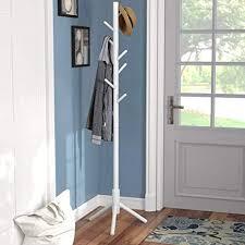 Sturdy Coat Rack Custom Amazon Vlush Sturdy Coat Rack Stand Entryway Hall Tree Wooden