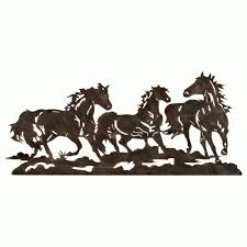 widely used western metal wall art silhouettes throughout western metal art wall hangings view 15