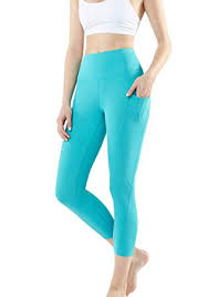 TSLA Yoga Pants 21 inches Capri High-Waist Tummy ... - Amazon.com