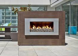 escea ef5000 outdoor natural gas fireplace stainless steel with new zealand new zealand river