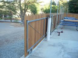 02 rolling wood gate with steel frame