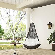 outdoor hanging furniture. Modway EEI-2657-GRY-WHI-SET Abate Outdoor Hanging Patio Swing Chair Outdoor Hanging Furniture