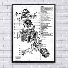 Us 8 6 Nikon Camera Structure Chart Art Canvas Fabric Poster Prints Home Wall Decor Painting In Painting Calligraphy From Home Garden On