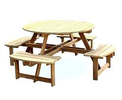 round wooden outdoor table teak picnic table