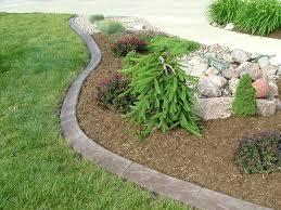 diy concrete landscape edging outdoor