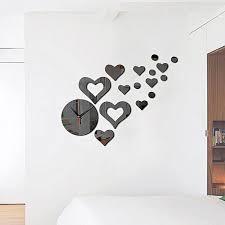 generic decorative wall clock small acrylic decor plus a small working clock