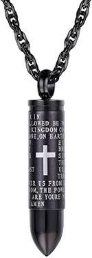Bullet Locket <b>Pendant</b>, Men Bible Verse <b>Necklace</b>, <b>Religious</b> Locket