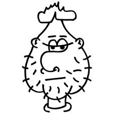 Cipolla Disegno Personaggio Dei Cartoni Animati Maglietta Per