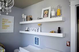 floating white shelves nursery wall boxes shelves