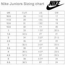Adidas Shoe Size Chart Vs Nike Best Picture Of Chart