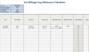 business mileage tracker business mileage spreadsheet and business mileage tracker template