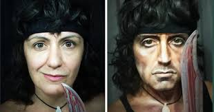 woman has sick makeup skills that can turn her into any male character she wants halle berry plays an asian man in cloud atlas transformations celebrity