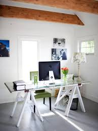 diy office space. Ergonomic Diy Home Office Decor Ideas Sawhorse Desk Small Space Ideas: Full