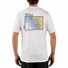Sarasota Bay Nautical Chart Sarasota Nautical Chart Mens Upf 50 Uv Sun Protection Short Sleeve T Shirt Ebay