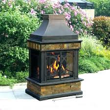 gas fire pit home depot outdoor fireplace clay outstanding