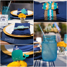 Nautical Table Settings Nautical Themed Baby Shower In Vintage Inspired Colors Project
