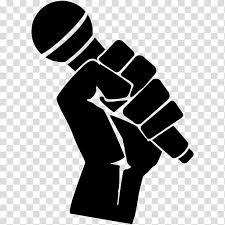 Fist Transparent Background Microphone Clipart Raised Fist Microphone Raised Fist