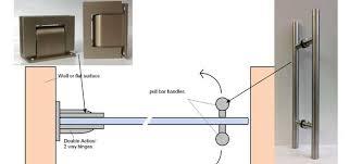 diagram of a frameless glass door installation
