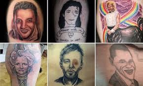 эти татуировки с лицами звезд настолько кошмарны что их герои