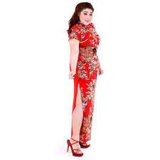 กี่เพ้ายาวไซส์ใหญ่ กี่เพ้าสาวอวบ ชุดจีนXXL กี่เพ้าคนอ้วน ชุดตรุษจีนไซส์ใหญ่  Chinese Style Traditional Dress,Qipao big size (สีแดง)