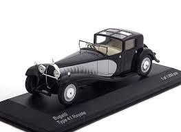 Check my bugatti pics, and also the period bugatti sign in my gallery. Model Car Bugatti Type 41 Royale Black Silver 1 43 Whitebox