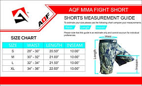 Cage Fighter Shorts Size Chart Aqf Camo Mma Fight Shorts Green Camouflage Ufc Cage Fight Grappling Boxing