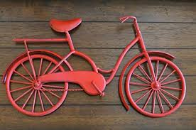 bike wall decor apple red or pick your color bicycle metal wall decor unique wall idea metal wall hanging amazon best buy handmadedecor on red bicycle metal wall art with bike wall decor apple red or pick your color bicycle metal wall