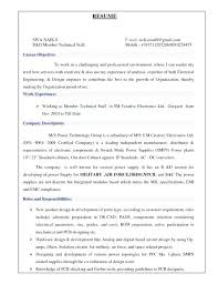 Sample Resume For Experienced Mechanical Engineer