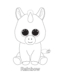 Rainbow Childrens Coloring Pages Unicorn Coloring Pages Ty