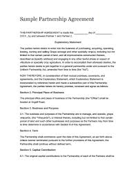 Partnership Agreement Template: Free Download, Create, Edit, Fill ...