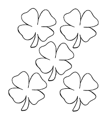 Small Picture Small Four Leaf Clover Coloring Pages