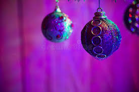 Purple Balls For Decoration Best Close Up Of Purple Balls As Decoration On The Christmas Tree Stock