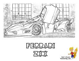 Heart Pounding Ferrari Coloring Ferrari Cars Free Boys Race Cars