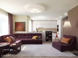 Yellow Brown Living Room Living Room Gray Sofa White Shelves Brown Chairs Gray Recliners