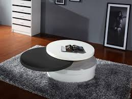 cool swivel coffee table of modern contemporary white and black lacquered tbqct63