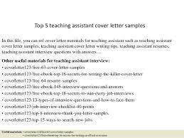 Covering Letter For Teaching Assistant Resume For Teacher Assistant