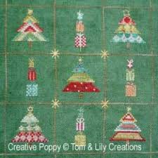 Christmas Tree Cross Stitch Chart Christmas Trees 9 Mini Patterns Cross Stitch Pattern By Tom Lily