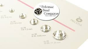 About Preciosa Crystal Rhinestones Sizes And Ss Stone Size Conversion Chart